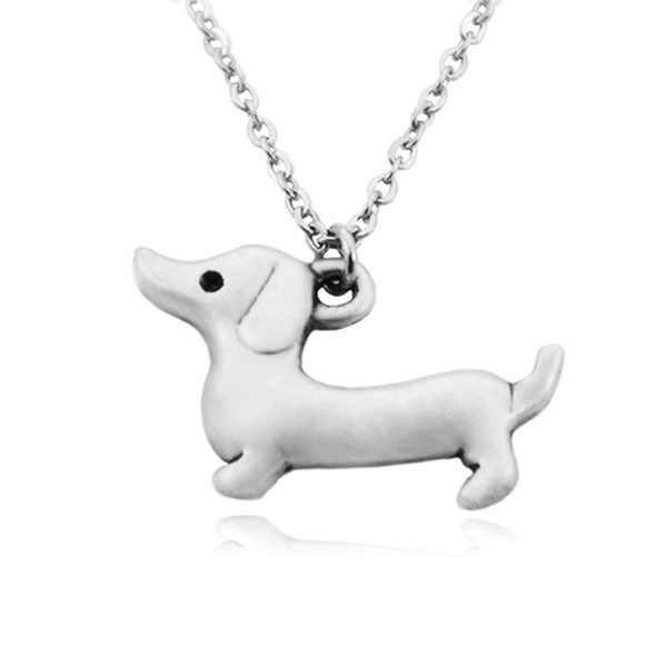 LONG HAIRED Silver Dachshund Jewelry Set Dachshund Long Haired Earrings /& Pendant Necklace Set Dachshund Gift for Dachshund Lovers