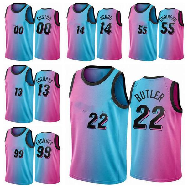 Camiseta con Bordado Chaleco Transpirable Deportivas de Jersey Swingman Miyapy Basketball Jersey Heat #14 Herro Camiseta de Jugador de Baloncesto para Hombres Camiseta de los fan/áticos