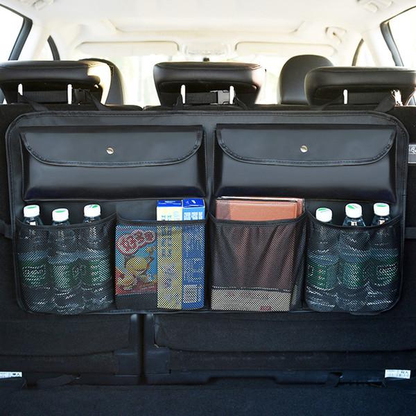Organizador del asiento trasero del coche 2 piezas Organizador interior del maletero del coche Bolsa de malla de red Bolsa de almacenamiento del asiento trasero Bolsillo