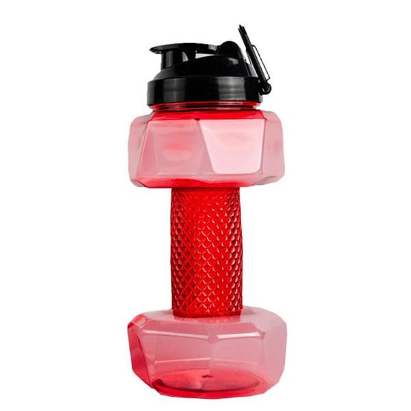 Gym Dumbbell Shape Water Bottle Capacity Training Running Hiking FI