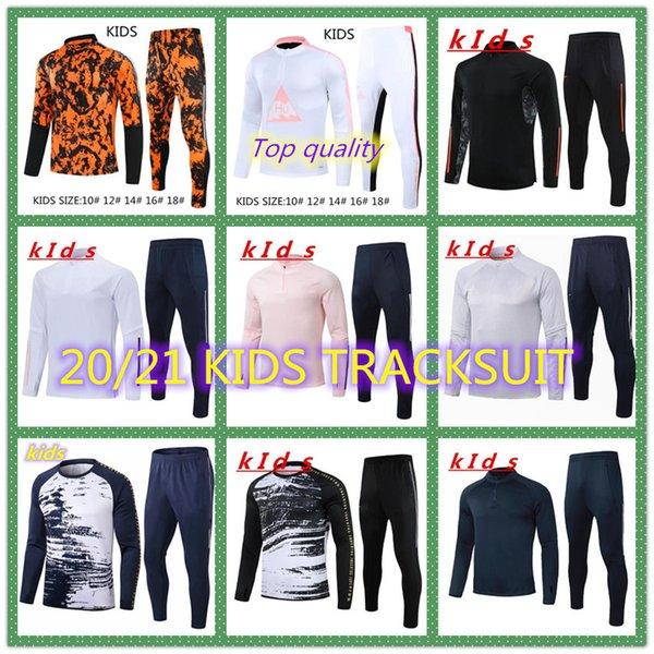 Childrens Training Suits EXPLOSION 20-21 New Adult Flamenco Football Short Sleeve Jerseys Childrens Football Uniforms