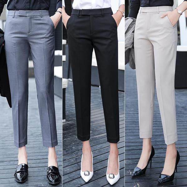 Distribuidores De Descuento Pantalones Negros De Vestir Para Senoras 2021 En Venta En Dhgate Com