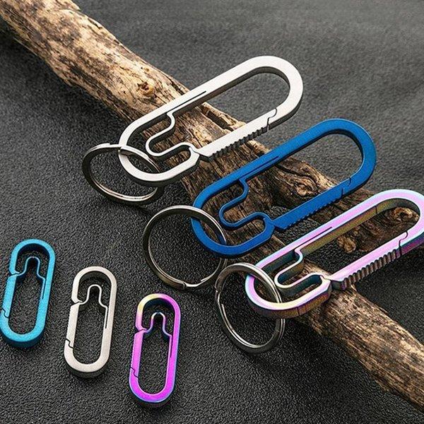 Titanlegierung Schlüsselbund Schnalle Outdoor Karabiner Zubehör Schlüssel