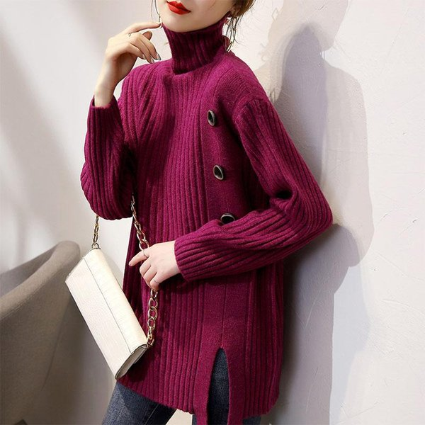 Womens Fall//Winter Plus Size Loose Blouse Thickened Plus Cashmere Warm Close-Fitting Bottoming Shirt