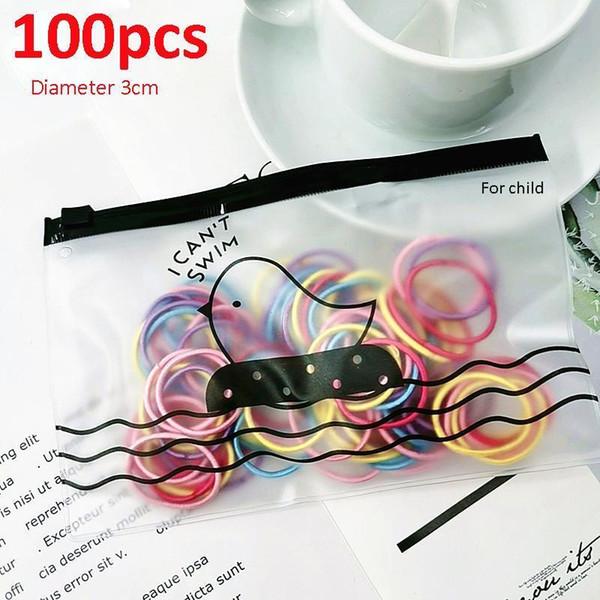 100Pcs Diameter 35MM Hair Bands Ponytail Holder Hair Ties Headband Scrunchies
