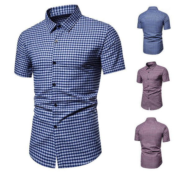 T Shirt Business Casual Homme Haut Chemise Coupe Slim NEUF manches courtes Luxe fashion