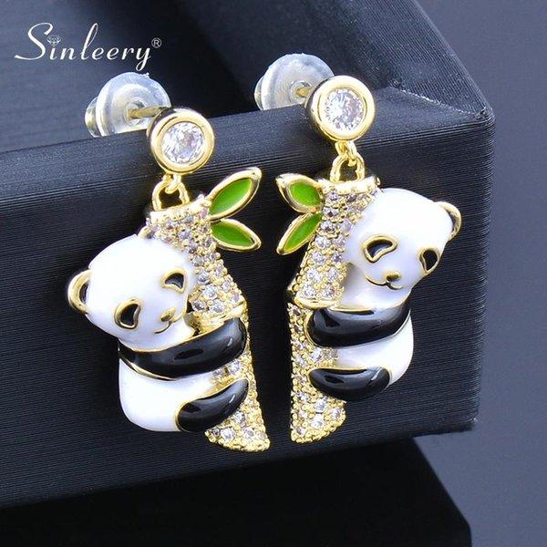 Holibanna Panda Ohrringe Sterling Silber S925 Cartoon Tier Ohr Ohrstecker f/ür Frauen Schmuck Geschenk 1 Paar