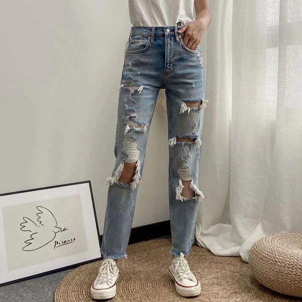 Distribuidores De Descuento Jeans Rotos Para Mujer 2021 En Venta En Dhgate Com