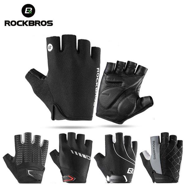 Rockbros Fahrrad Halbfinger Handschuhe Stoßfest Atmungsaktiv MTB Mountain