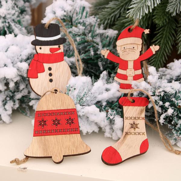 2020 Noël Mignon 3D Elk bonhomme de neige Père Noël Pendentif Fashion Collier Bijoux