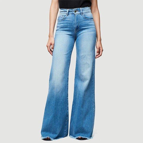 Distribuidores De Descuento Pantalones Vaqueros De Pierna Ancha De Gran Altura 2021 En Venta En Dhgate Com