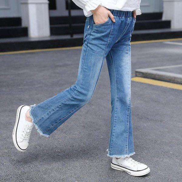 Distribuidores De Descuento Los Pantalones Vaqueros Del Corte Del Cargador Ninas 2021 En Venta En Dhgate Com
