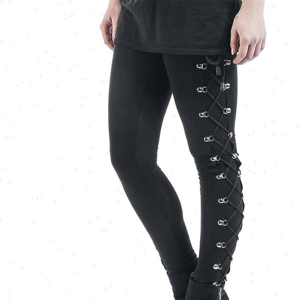 Skinny trousers Fitted black pants Tight pants Ties detailed pants Black leggings Yoga pants Gothic clothing Fetish clothing Womens