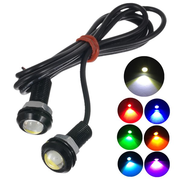 2X White LED Eagle Eye 9W 18MM 5730 SMD Car Fog Light DRL Reverse Backup Lamp
