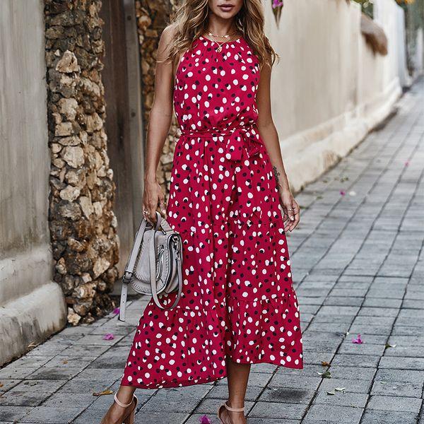 sin mangas vestido maxi Vestidos de verano para las mujeres de una sola pieza vestido de gasa largo estilo vestido sin espalda descubierta