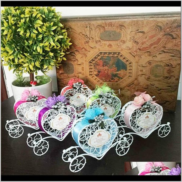 Girls Pumpkin Carriage Chocolate Boxes for Wedding Candy