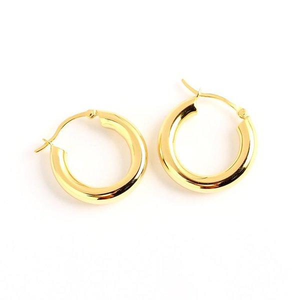 Discount Fine Gold Hoop Earrings 2021 On Sale At Dhgate Com