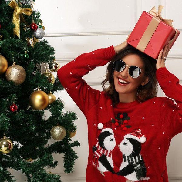 Plus Size Women Christmas Tree Sweatshirt Pullover T-Shirt Blouses Xmas Tops US