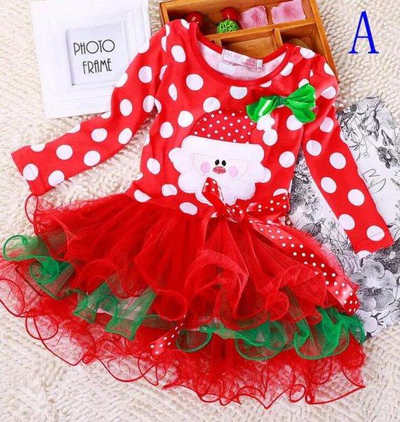 Toddler Enfants Filles Noël Costume Tenue Elk Tutu robe fantaisie Set De Noël Fête