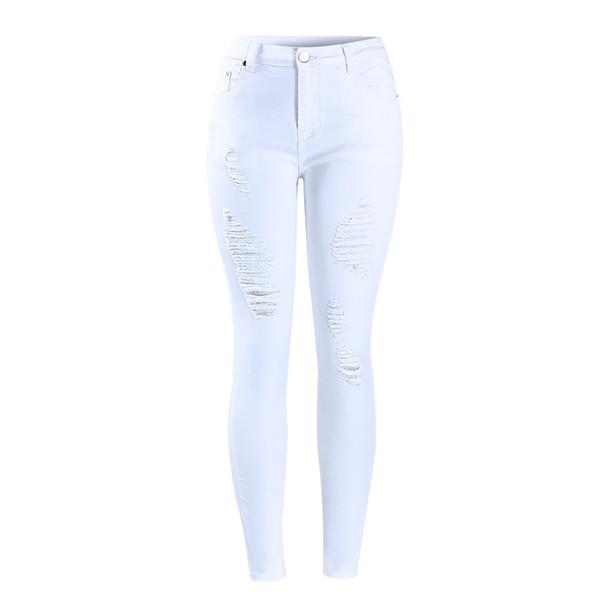 Distribuidores De Descuento Pantalones Vaqueros Rotos Blancos De Las Mujeres 2021 En Venta En Dhgate Com
