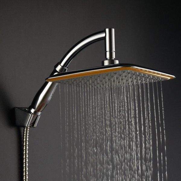 Palmare Docce soffione Big Shower Head Square Top Rainfall Soffione doccia Prolunga Tubo Bagno cromato Set soffioni doccia di lusso