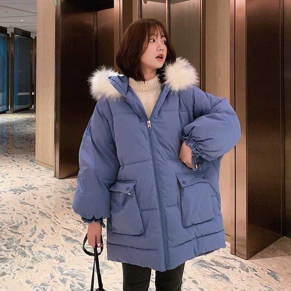 Hiver à capuche pour homme Épaissir Chaud Parka Korean Rembourré Coton Long Jacket Outerwear