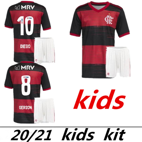 EXPLOSION 20-21 New Adult Flamenco Football Short Sleeve Jerseys Childrens Training Suits Childrens Football Uniforms