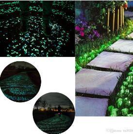 Rocks lumineuse Glow Pierre Fish Tank Pierres Glowing pour Jardin F/ée ext/érieur Jardin Paysage Passerelles 50PCS