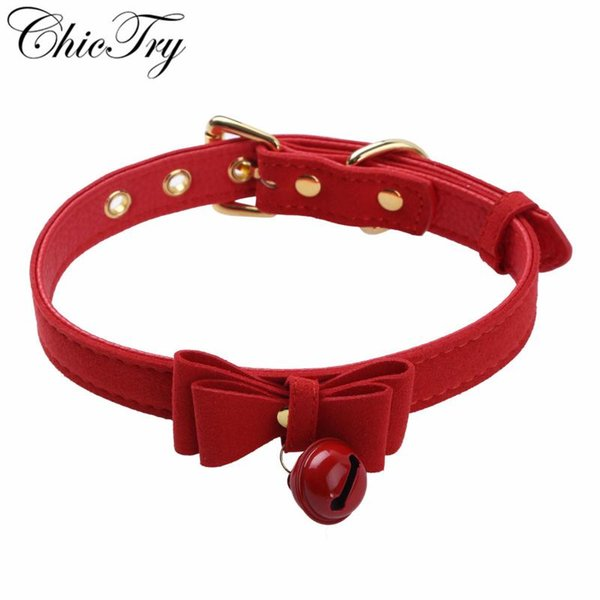 adjustable red ruffle necklace leather ruff red leather statement piece