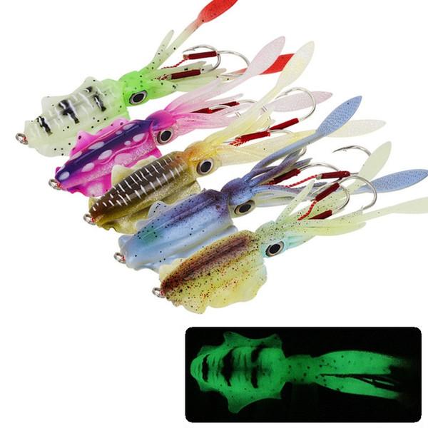 Tintenfisch Jigs Salzwasser Angelhaken leuchtende Garnelenköder Tintenfisch