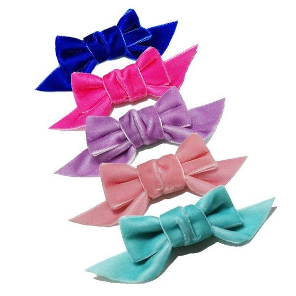 Cheveux Clips Cheveux Slides Clips Velours Bows Set 1 Filles//Bébé Mini Pinces à Cheveux