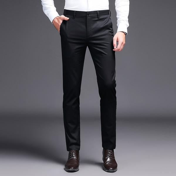 Distribuidores De Descuento Pantalones De Vestir Pitillo Negros Para Los Hombres 2021 En Venta En Dhgate Com