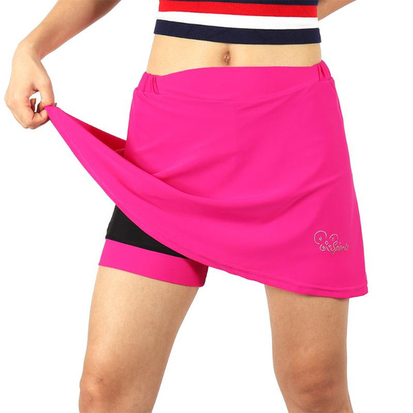 Donna Traspirante 2-in-1 in Bicicletta Gonna con Gel Imbottito Liner MTB Bike Shorts Quick Dry Athletic Gonna Sport Pantaloni da Ciclismo
