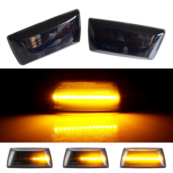 2pcs Dynamic LED Side Marker Lights Flowing Turn Signal Light Side Repeater Lamp Compatible with V-auxhall O-pel Astra H Corsa D Zafira B Insignia A Meriva B Adam