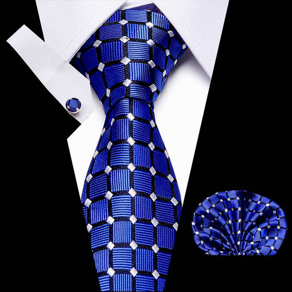 Handmade Plain Bleu Marine Satin Classique Homme Cravate et Mouchoir Set Mariage Cravate