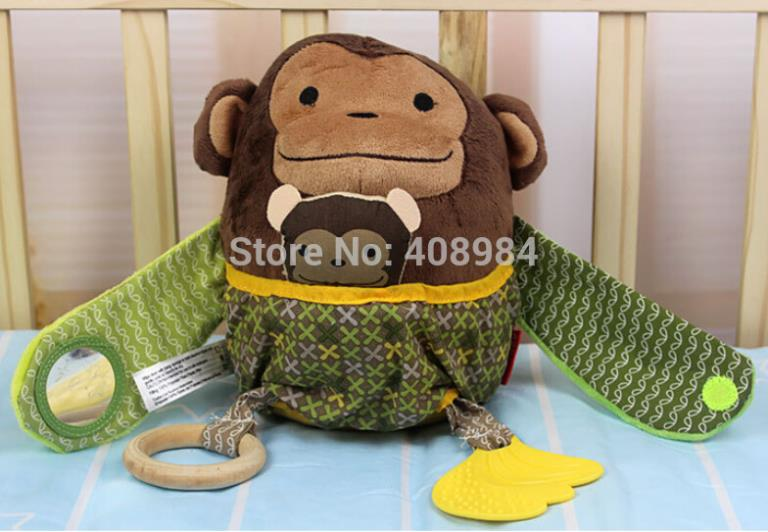 Wholesale Hug Hide Baby - (2 pieces lot)funny Plush monkey mother and child stroller toy baby Hug & Hide Activity Soft Toy teether
