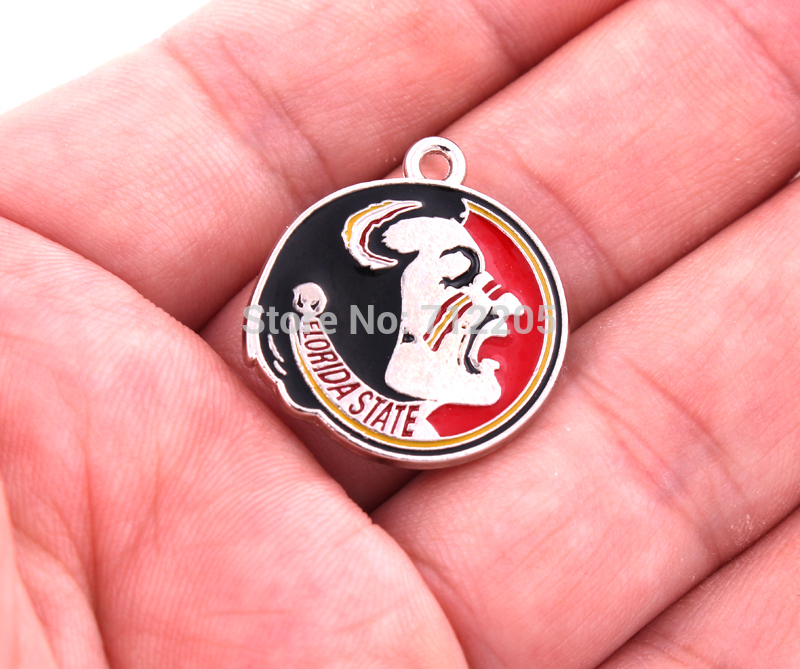 Wholesale New Arrivals a enamel single sided Florida State Seminoles FSU University charms jewelry accessory