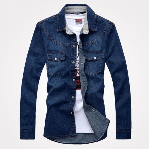 493b4a3b063 ST203 New Men s Casual Thicker Denim Shirts Slim Stylish Washed Jean  Jackets. Supplier  kellymart
