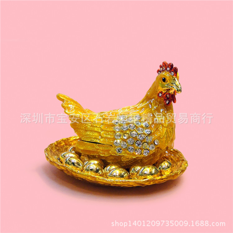 Wholesale Russian Eggs - Russian metals and creative gifts upscale home furnishings C hen that lays golden eggs diamond ornaments