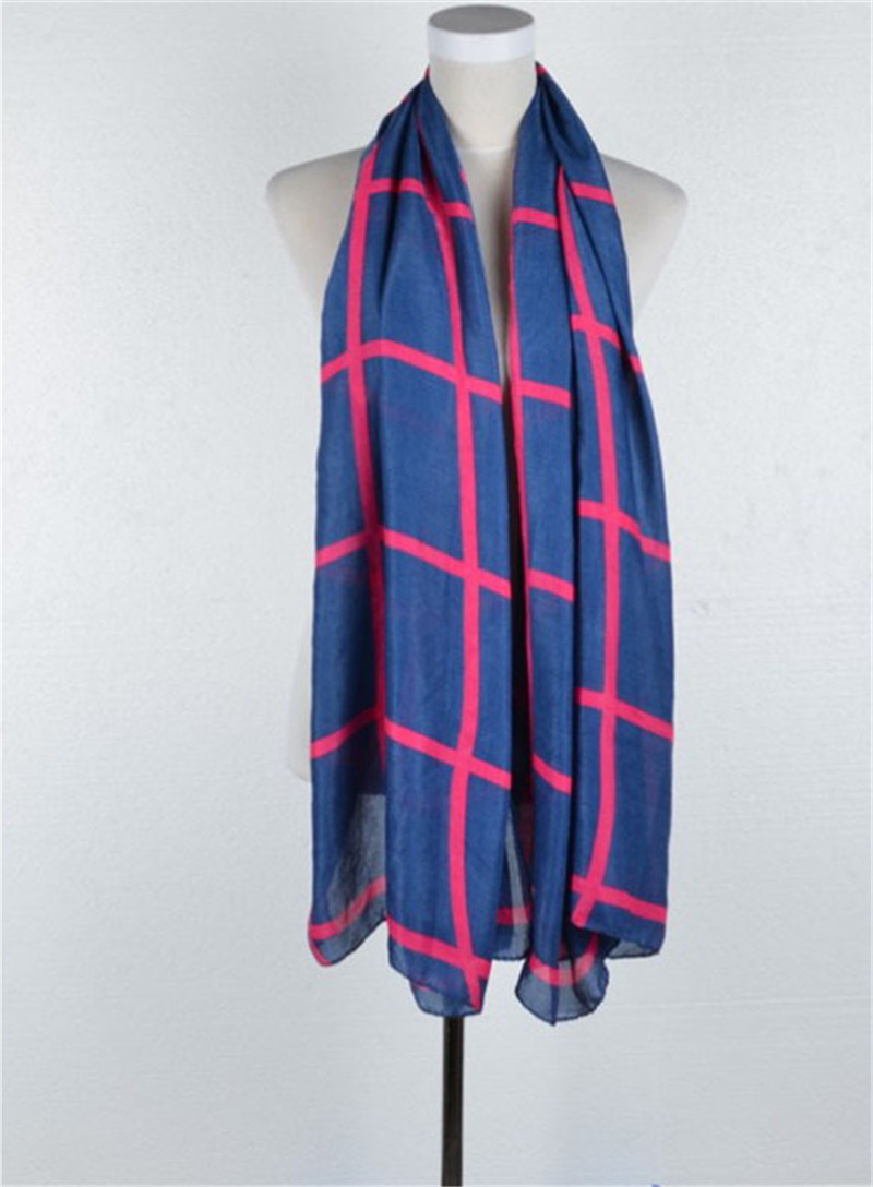 Wholesale Multicolor Winter Scarfs - Autumn Winter Tartan Polyester Scarf Classic Multicolor All-match Sweet Plaid Scarf Shawl Wrap Women Scarves 10Pcs Lot Free Shipping