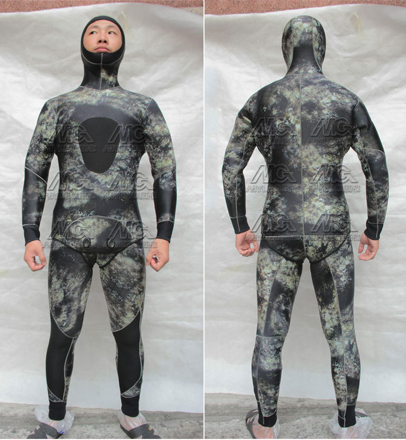 lycra diving suits NZ - Men's Professionals 5MM Warm Gray Neoprene Diving Suit Long Sleeve Nylon Scuba Multicolor Spearfishing Surf Sailboat Wetsuit