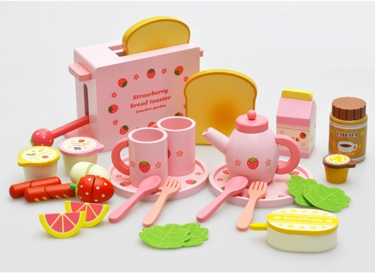 Wholesale Children play kitchen strawberry toast machine simulation gift