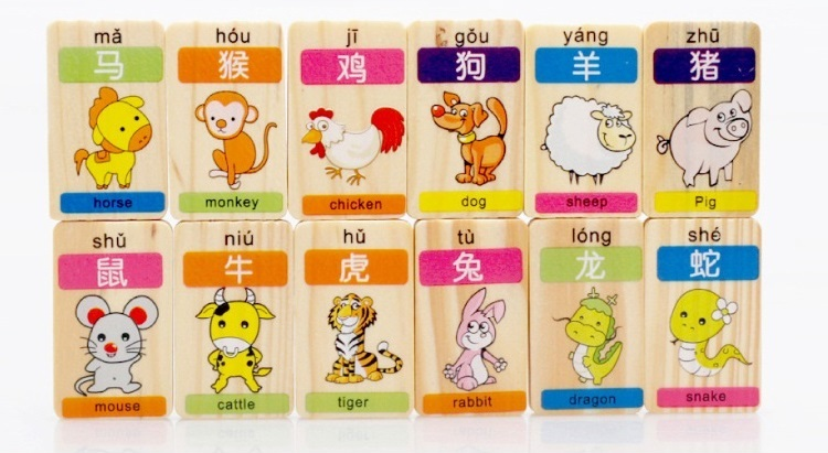 Wholesale Toy Domino Pieces - Digital operation of the 100 piece of the round corner of fillet children learn Pinyin Chinese character puzzle wooden Domino