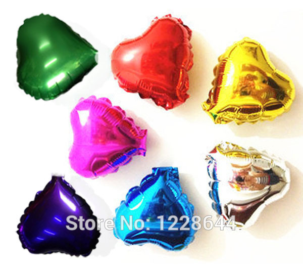 Wholesale 5inch heart foil balloons colors choice Wedding decorations Party supplies classic toys