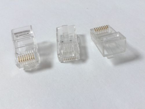Wholesale Network Cat5e Rj45 - 100Pcs lot RJ45 CAT5 CAT5E 8P8C Modular Plug Network LAN Cable Connector
