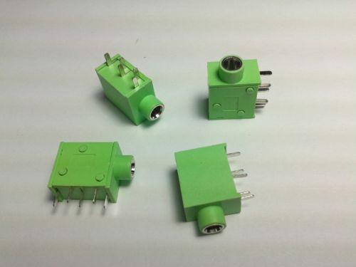 250 adet 5PIN 3.5 MM Stereo Jack Soket PC PCB Paneli Dağı Lehimleme yeşil