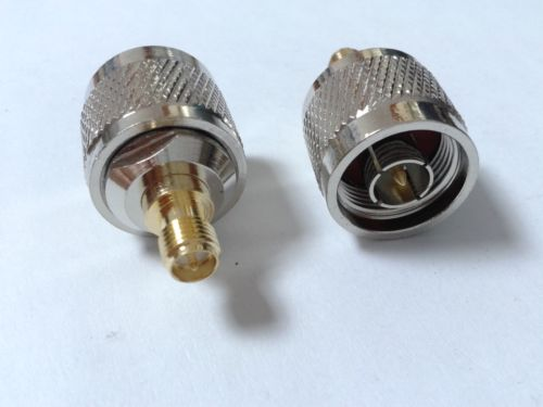 2PCS high quality Copper N Type Male Plug to RP SMA Female Plug Coaxial Adapter