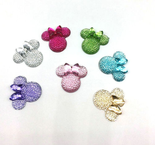 Wholesale Mouse Cabochons - 120pcs 27.5mm MIX Cute mouse rhinestone dotted DIY Flat Back Resin cabochons