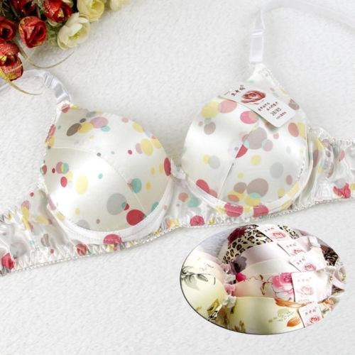 d15ecc071d Women s 100% Silk Bra Floral Bras Wire Free 32B-42B Online with ...