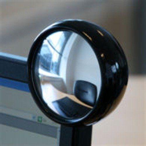Computer Monitor Mirror PC REAR VIEW MIRROR لأعمال المكاتب Stuff Black